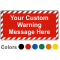 Create Own Safety Warning Label with Striped Border