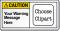 Custom Text ANSI Caution Label
