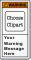 Custom Text ANSI Warning Label