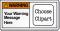 Design Own ANSI Warning Label, Choose Clipart