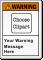 Custom ANSI Warning Label, Choose Clipart