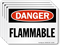 Flammable OSHA Danger Label