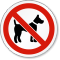 No Dog Allowed ISO Prohibition Safety Symbol Label