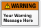 Personalized Text ANSI Warning Label