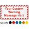 Customizable Warning Text Safety Label with Striped Border